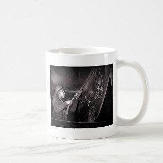 Scaling a WWII Ship Coffee Mug