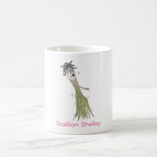Scallion Shelley 11 oz white mug. Coffee Mug