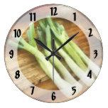Scallions Reloj De Pared