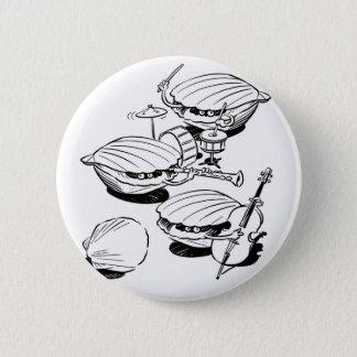 Scallop Band Pinback Button