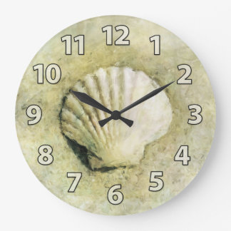 Scallop Sea Shell Art Clock