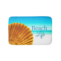 Scallop Sea Shell Beach Life Bath Mat