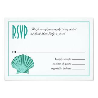 Scallop Seashell Beach RSVP | aqua Card
