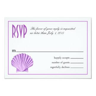 Scallop Seashell Beach RSVP | lilac Card