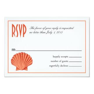 Scallop Seashell Beach RSVP | peach Card