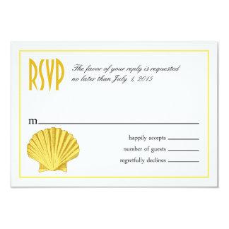 Scallop Seashell Beach RSVP | yellow Card