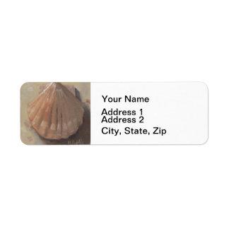 Scallop Shell Beach Seashell Return Address Label