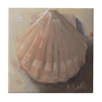 Scallop Shell Beach Seashell Ceramic Tile