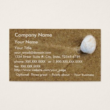 Professional Business Scallop Shell - business card template