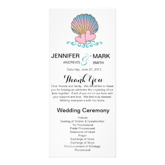 Scallop Shell - Wedding Program