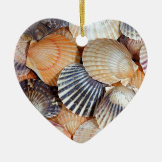 Scallop Shells Ceramic Ornament