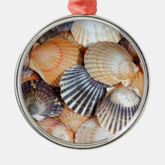 Scallop Shells Metal Ornament