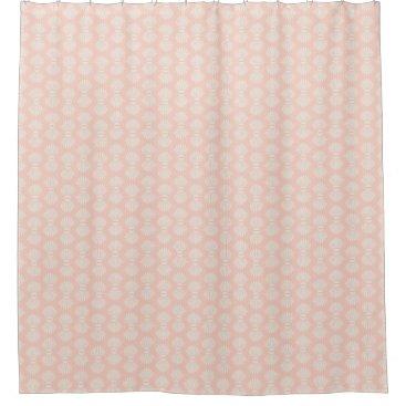 Beach Themed Scallop Shells Peach and Cream Shower Curtain