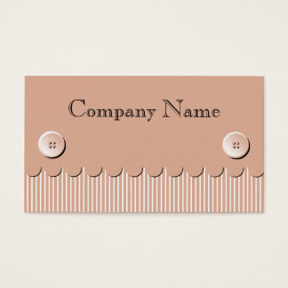 Scallop Stripe and Button Envelope Business Card