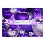 Scalloped Balloon Heart Customizable Invitation