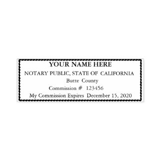 Scalloped Border Notary Public Seal Stamp
