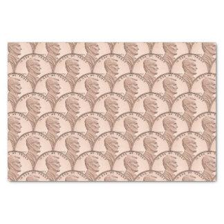 Scalloped Copper Pennies Pattern Design Tissue Paper