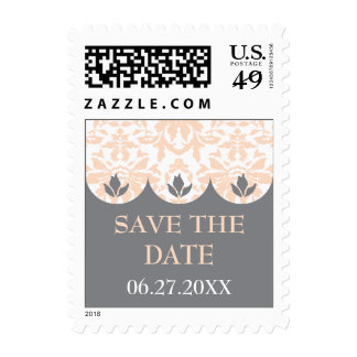 Scalloped Damask Save the Date Stamp