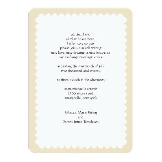 Scalloped Edge Second Marriage Wedding Invitations