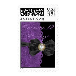 Scalloped Edge Wedding Postage Stamp