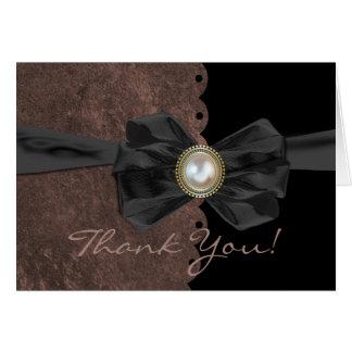 Scalloped Edge Wedding Thank You Card