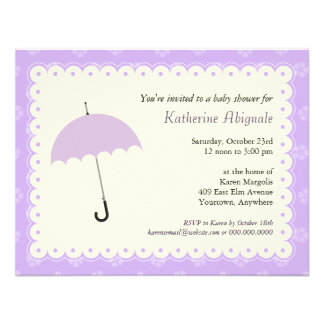 Scalloped Lace Baby Shower Invitation