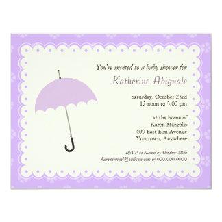 "Scalloped Lace Baby Shower Invitation 4.25"" X 5.5"" Invitation Card"