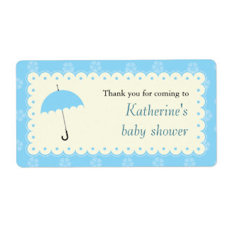 Scalloped Lace Baby Shower Label