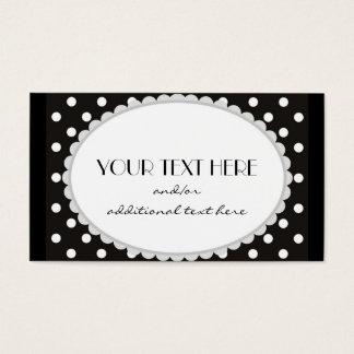 Scalloped Polka Dot Business Card