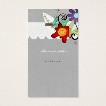 Professional Business Scalloped Scallops Floral Business Card