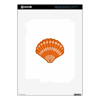 SCALLOPED SEA SHELL DECAL FOR iPad 3