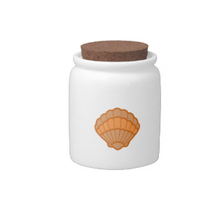 SCALLOPED SHELL APPLIQUE CANDY JARS