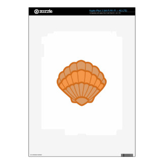 SCALLOPED SHELL APPLIQUE SKIN FOR iPad 3