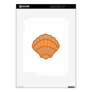SCALLOPED SHELL APPLIQUE DECAL FOR iPad 2