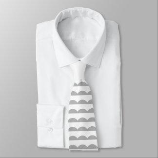 Scalloped Stripes Neck Tie
