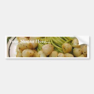 Scallops Seafood Pasta Food Dinner Bumper Stickers