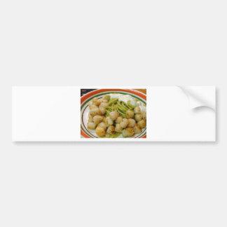 Scallops Seafood Pasta Food Dinner Bumper Sticker
