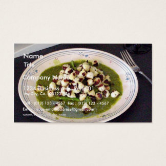 Scallops With Seseme Cilantro Sauce Business Card