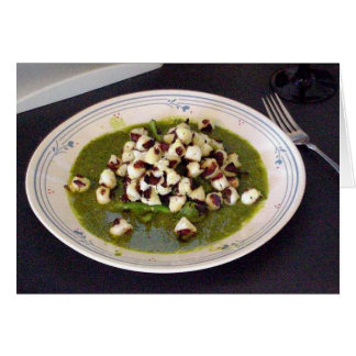 Scallops With Seseme Cilantro Sauce Greeting Card