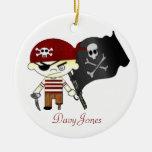 Scallywag Pirate KIDS Christmas Ornament