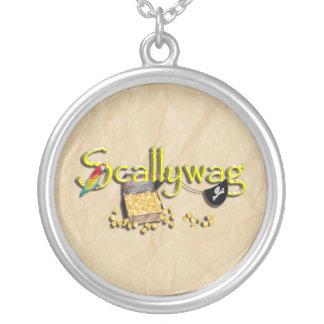 SCALLYWAG Text w/ Pirate Chest & Eye Patch Jewelry