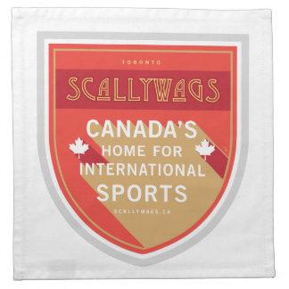 Scallywags se divierte el escudo servilletas de papel