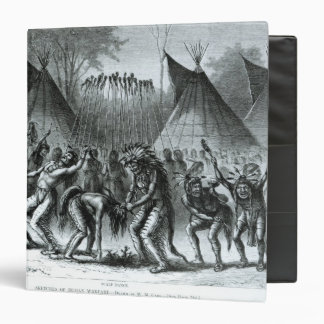 Scalp Dance from 'Sketches of Indian Warfare' 3 Ring Binder