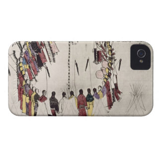 Scalp dance or victory dance (ink on paper) Case-Mate iPhone 4 case