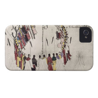 Scalp dance or victory dance (ink on paper) iPhone 4 Case-Mate cases