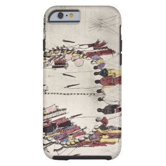 Scalp dance or victory dance (ink on paper) iPhone 6 case