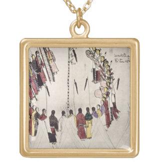Scalp dance or victory dance (ink on paper) pendants