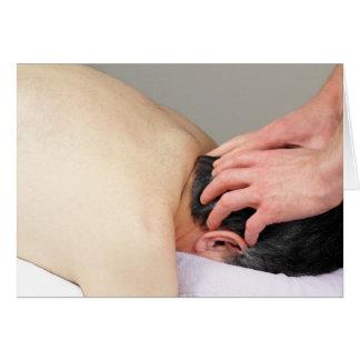 Scalp Massage Photo Greeting Card