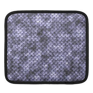 Scaly Gray Snakeskin iPad Sleeve