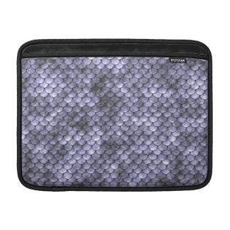 Scaly Gray Snakeskin MacBook Air Sleeve